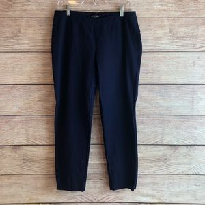 EIileen Fisher navy blue stretchy pants L10 Medium